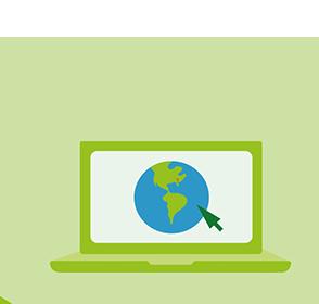Contact Service online laptop