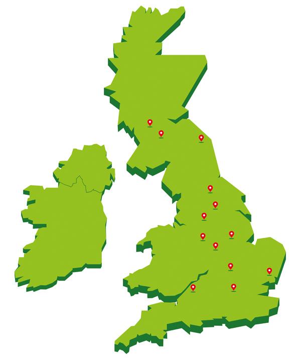kinex office locator map